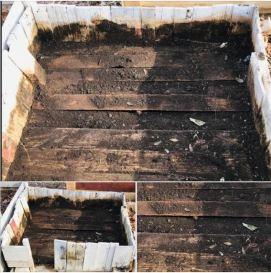 old garden box that have fallen apart 3